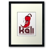 KALI SAUCE Framed Print