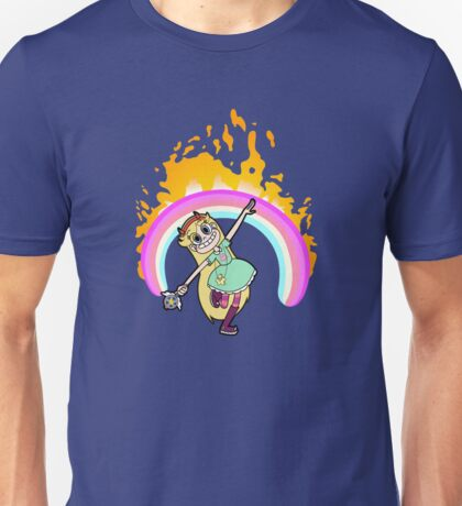 Rainbow on Fire Unisex T-Shirt