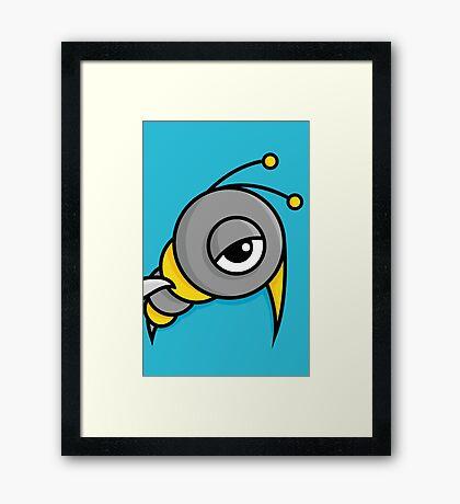 Bizze, la petite abeille Framed Print