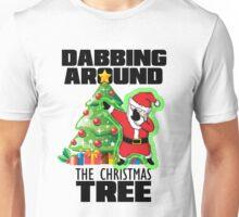 Cute DABBING AROUND THE CHRISTMAS TREE T-SHIRT Funny Santa Swag Unisex T-Shirt