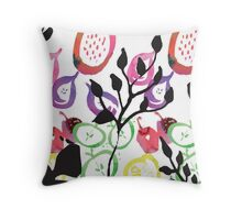 Fruits and Stems Throw Pillow