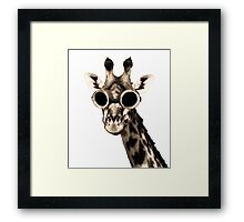 Giraffe With Steampunk Sunglasses Goggles Framed Print