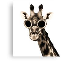 Giraffe With Steampunk Sunglasses Goggles Canvas Print