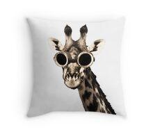 Giraffe With Steampunk Sunglasses Goggles Throw Pillow