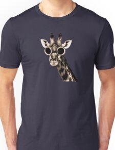 Giraffe With Steampunk Sunglasses Goggles Unisex T-Shirt