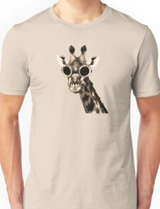 Giraffe With Steampunk Sunglasses Goggles Unisex T-Shirt