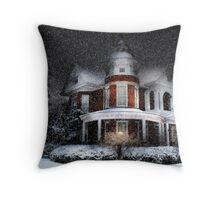 Snow by Moonlight Throw Pillow