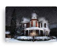 Snow by Moonlight Canvas Print