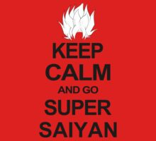 KEEP CALM AND GO SUPER SAIYAN T-Shirt Tee Dragon DBZ Ball Goku Z Vegeta Anime by beardburger