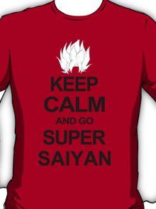 KEEP CALM AND GO SUPER SAIYAN T-Shirt Tee Dragon DBZ Ball Goku Z Vegeta Anime T-Shirt