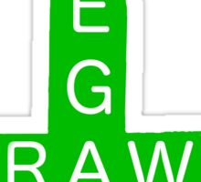 Vegan Raw - Green cross Sticker