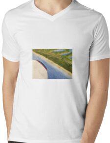 Flying Over the Beach Mens V-Neck T-Shirt