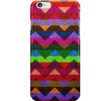 Leather Colorful Chevron Stripes Pattern iPhone Case/Skin