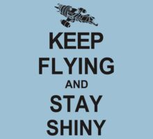 Keep Flying and Stay Shiny T Shirt Serenity Firefly Calm Carry Tee Browncoats by beardburger