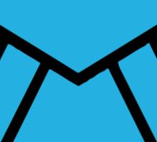 Cinematic SHIELD Logo - Blue Glow Sticker