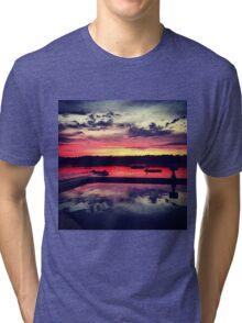 Camp Burgess Waterfront Sunset Tri-blend T-Shirt