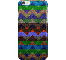 Leather Colorful Chevron Stripes Pattern #4 iPhone Case/Skin