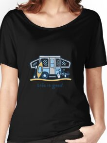 Camping - Life Is Good Women's Relaxed Fit T-Shirt
