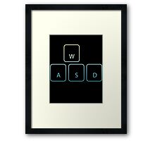 WASD Framed Print