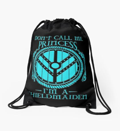 i'm a shieldmaiden Drawstring Bag