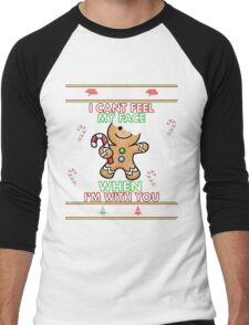 Cute I CAN'T FEEL MY FACE When I'm With You Shirt Funny Xmas Men's Baseball ¾ T-Shirt