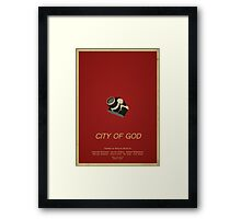 City Of God - Minimalist Movie Poster Framed Print
