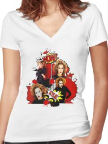 Kylie Minogue - Confide In Me - Comic Book Red Women's Fitted V-Neck T-Shirt