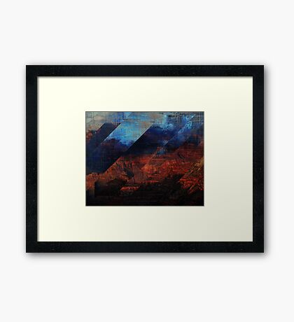 Deconstructing Time Altered Landscapes Grand Canyon Framed Print