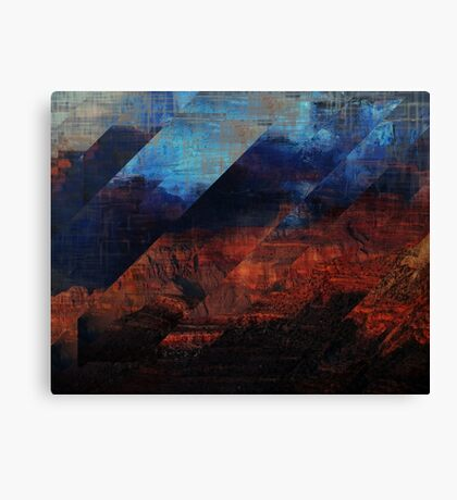 Deconstructing Time Altered Landscapes Grand Canyon Canvas Print