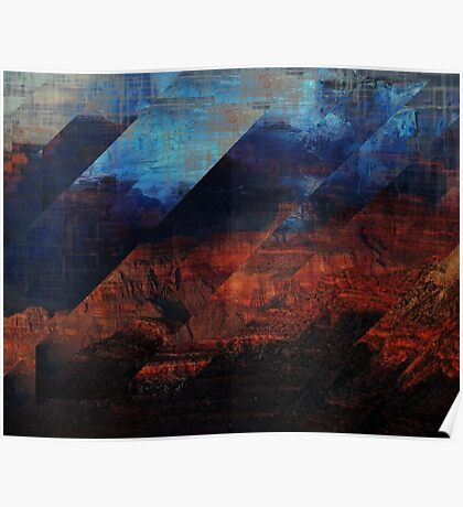 Deconstructing Time Altered Landscapes Grand Canyon Poster