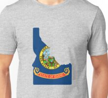Idaho outline with flag Unisex T-Shirt