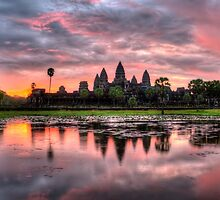 HDR Angkor Wat Sunrise by Casperry