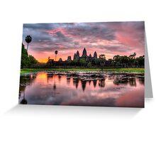 HDR Angkor Wat Sunrise Greeting Card