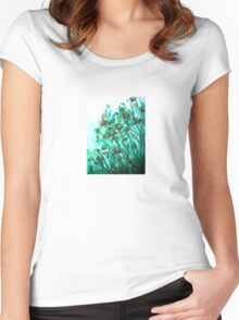 Fairy Flowers  Women's Fitted Scoop T-Shirt