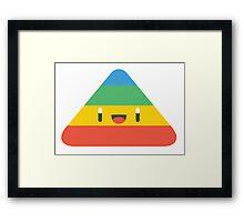 Funny triangle Framed Print