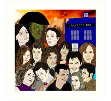A time lords family Art Print