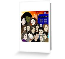 A time lords family Greeting Card