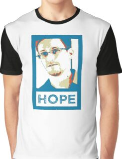 Edward Snowden is HOPE Graphic T-Shirt