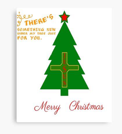 MERRY CHRISTMAS SOMETHING NEW JESUS T-SHIRT Canvas Print