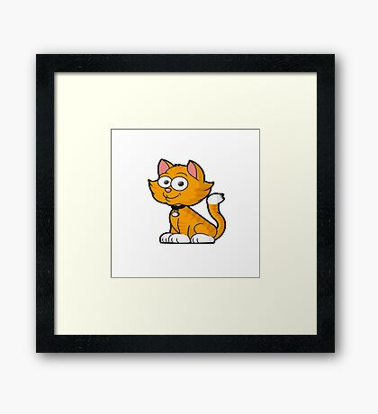 HELLO MS. KITTY CUTE CAT QUOTE  Framed Print