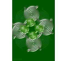 Green Abstract  pattern  3145 Views) Photographic Print