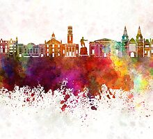 Aberdeen skyline in watercolor background by paulrommer