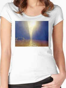 Sunshine Over Muddy River Women's Fitted Scoop T-Shirt
