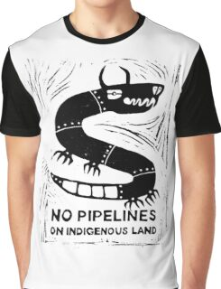No Pipelines! Indigenous People  Graphic T-Shirt