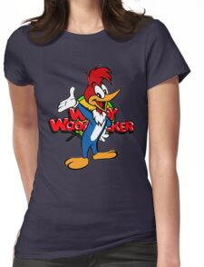 Woody Woodpecker 70's 80's cartoon Womens Fitted T-Shirt