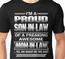 Proud Son In Law Christmas Gift T-Shirt Unisex T-Shirt