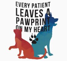 Every patient leaves a pawprint on my heart One Piece - Long Sleeve