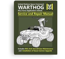 Warthog Service and Repair Manual Canvas Print