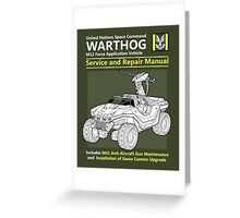 Warthog Service and Repair Manual Greeting Card