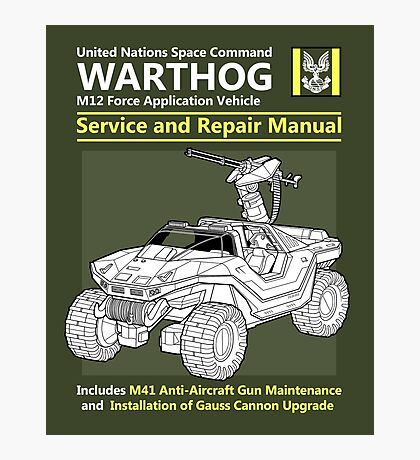 Warthog Service and Repair Manual Photographic Print
